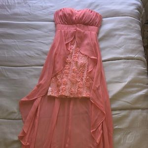 Salmon colored woman's dress